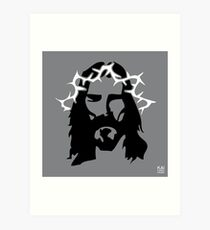 JESUS_grey by KAI Copenhagen Art Print