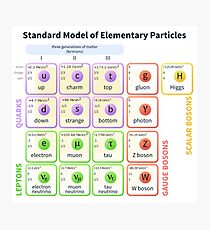 Elementary Particles - Standard Model Photographic Print