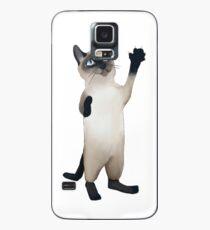Funda/vinilo para Samsung Galaxy Gato siames