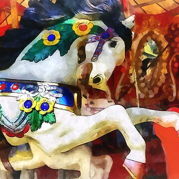 Carousel Horse Closeup by SudaP0408