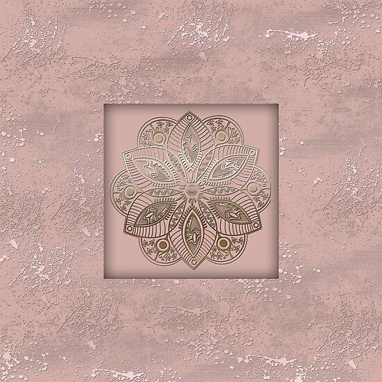 Mandala rosegold 2 by Katharina Hilmersson