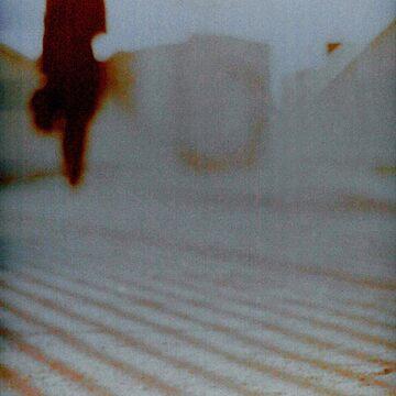 Man walking in city analog 35mm Lomo Smena vintage photo by edwardolive