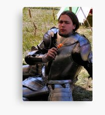 A privileged wit-cracking Knight Canvas Print
