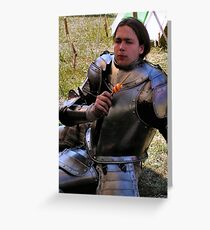 A privileged wit-cracking Knight Greeting Card
