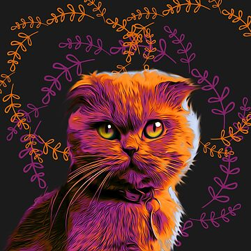 Scottish Fold cat by NoraMohammed