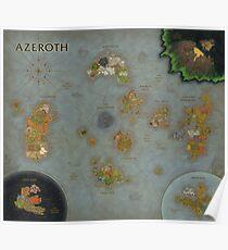 Aktuelle Azeroth-Karte BFA [12000x10368px] Poster