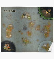 Latest Azeroth Map incl. BFA [12000x10368px] Poster