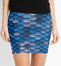 Blue Scale Mini Skirt