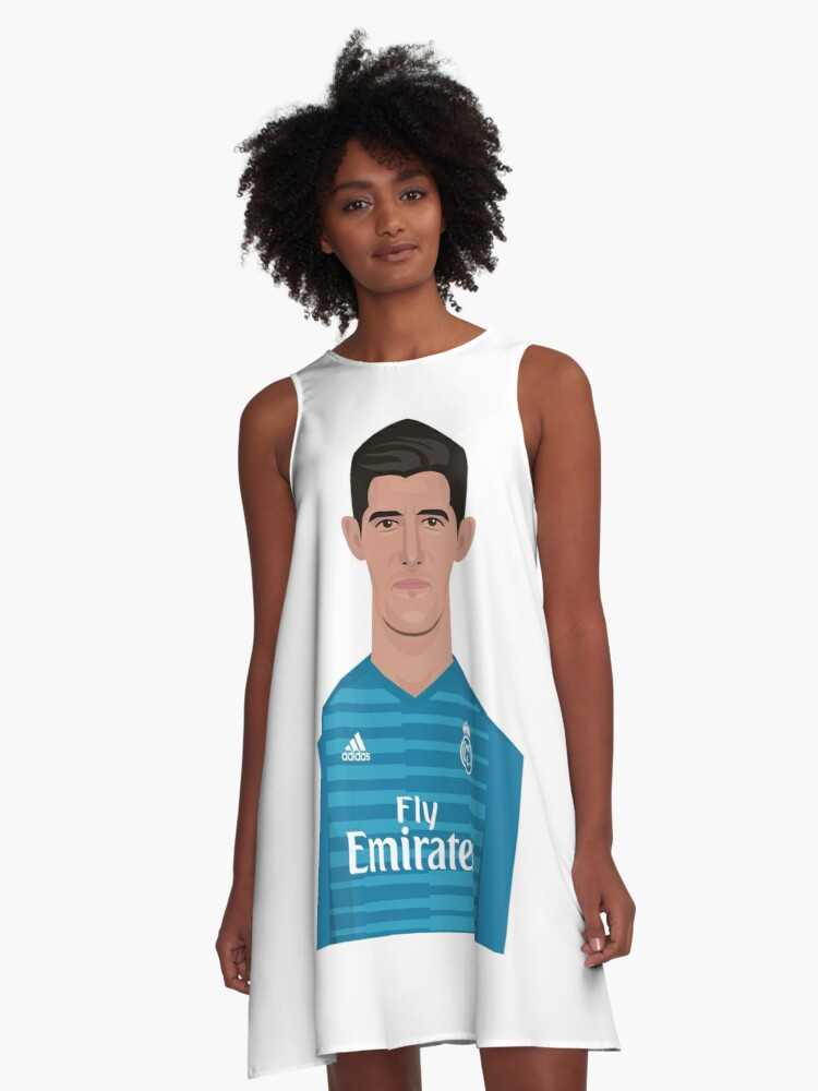 best cheap 80113 8f8e2 'Thibaut Courtois, Real Madrid' A-Line Dress by Brewyart Design Co