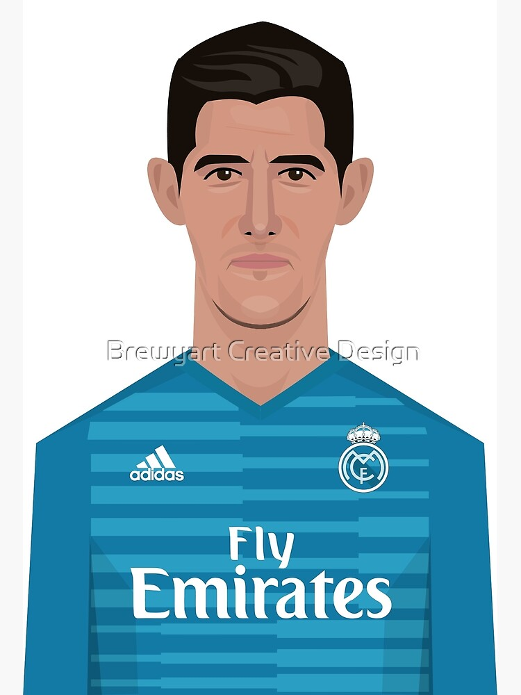 save off c6700 2d24e Thibaut Courtois, Real Madrid | Poster