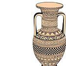 Ancient Greek Geometric Amphora by Cassidy Capri
