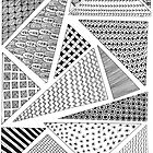 Triangle Zentangles by jnpdesign999