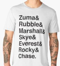 Zuma & Rubble & Marshall & Skye & Everest & Rocky & Chase (Dogs of Paw patrol) Men's Premium T-Shirt
