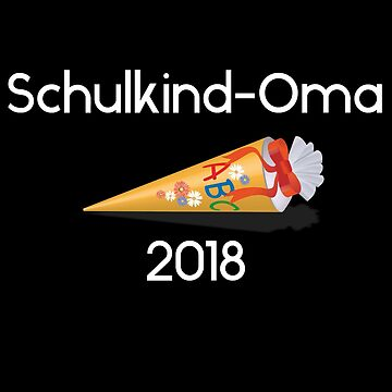 Schoolchild grandmother 2018 white by Palme-Solutions