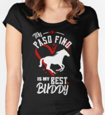 Paso fino horse graphic heart quote best buddy Women's Fitted Scoop T-Shirt