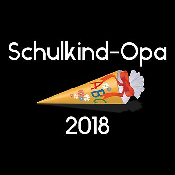 Schoolchild grandpa 2018 white by Palme-Solutions