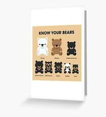 Know Your Bears Greeting Card