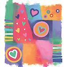 Hearts Patchwork by Christine Jopling