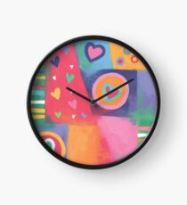 Hearts Patchwork Clock