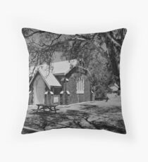 Walkaway Church with HDR and grayscale Throw Pillow