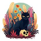 Skull kitty by hellocloudy