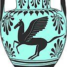 Ancient Greek Pegasus Amphora - Teal by Cassidy Capri