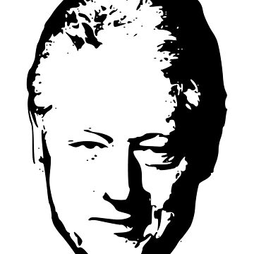 Bill Clinton Black On White Pop Art by idaspark
