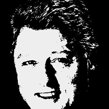 Bill Clinton Winning Smile White On Black Pop Art by idaspark
