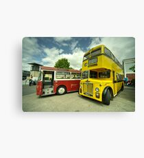 Red Bus Yellow Bus  Canvas Print