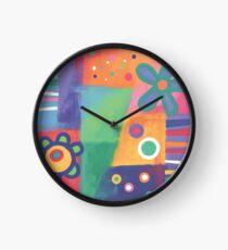 Flowers Patchwork Clock