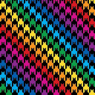 Cats Hounds Tooth Rainbow by Lisann