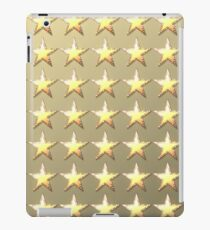 Stars retro light gold background iPad Case/Skin