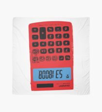 Awesome T-shirt illustrator design: calculator with digital tekst Scarf
