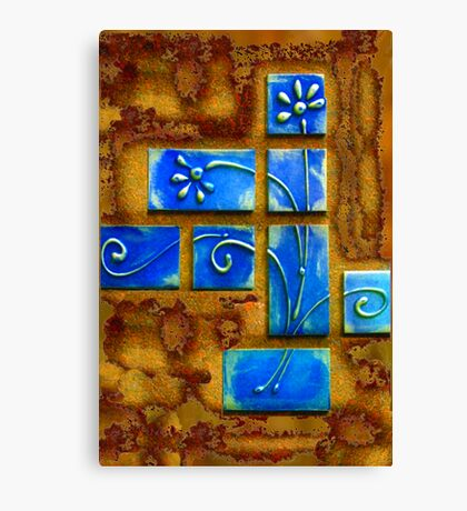 Blue Wafers Canvas Print