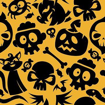 Cute Halloween Pattern by Jaxthedog