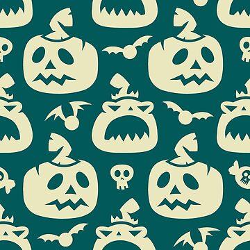 Halloween Pumpkin Pattern by Jaxthedog