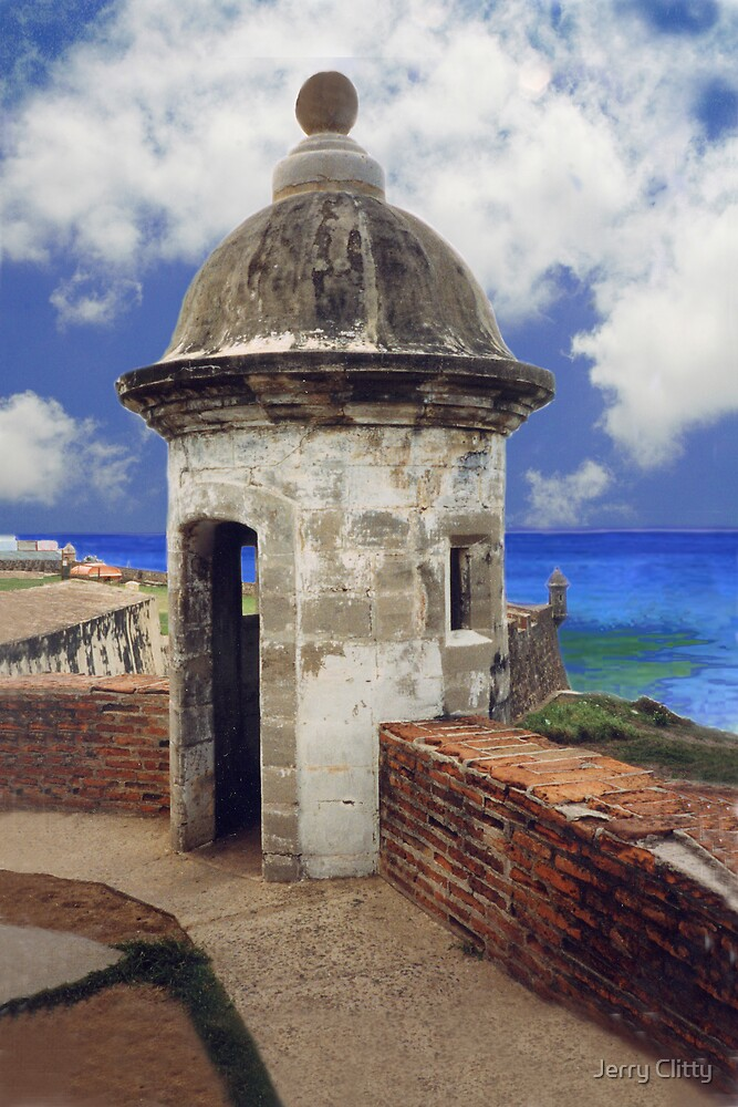 "Puerto Rico,"" El Moro"" Atlantic view by Jerry Clitty"
