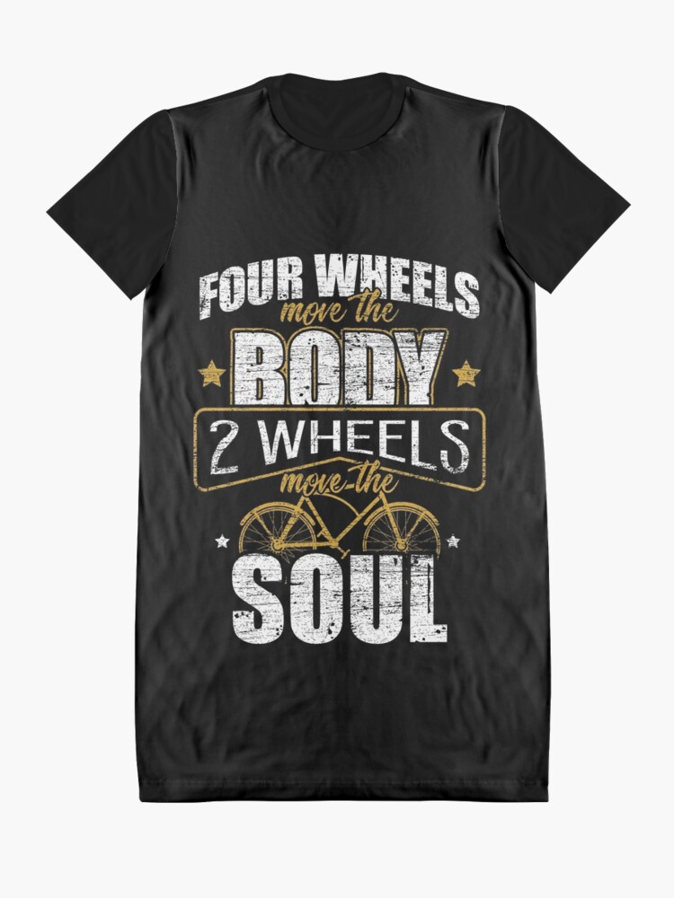 Alternate view of Bicycle hobby Graphic T-Shirt Dress