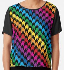 Blusa Cats Hounds Tooth Rainbow