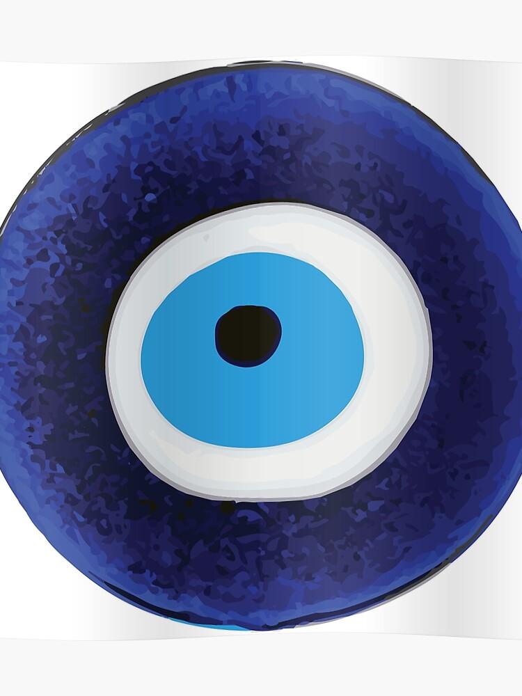 Nazar Evil Eye Protection Amulet Bead Symbol | Poster