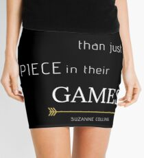 More than a Piece in their Games   Hunger Games Quote Mini Skirt