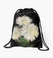 Electric Flowers! Drawstring Bag