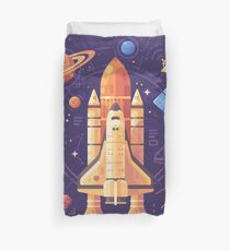 Space shuttle, Science Research, Planets Duvet Cover