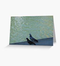 Parisian pigeons, Quai de la Marne Greeting Card