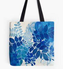 bouquet bleu abstrai/abstract blue bouquet Tote Bag
