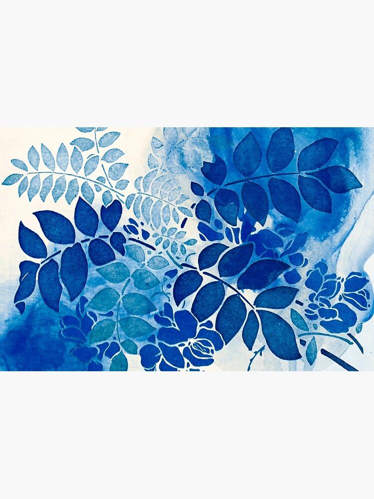 Blumenstrauß bleu abstrai / abstrakter blauer Blumenstrauß von clemfloral