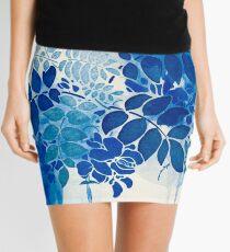 Blumenstrauß bleu abstrai / abstrakter blauer Blumenstrauß Minirock