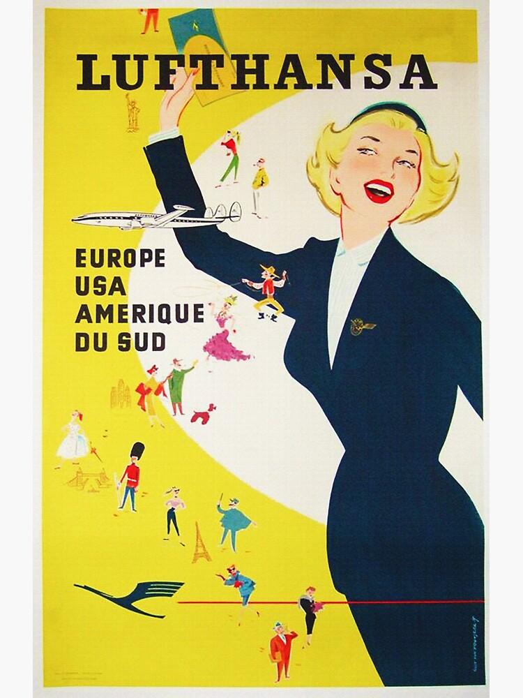 Vintage 1950's German Lufthansa  by edsimoneit