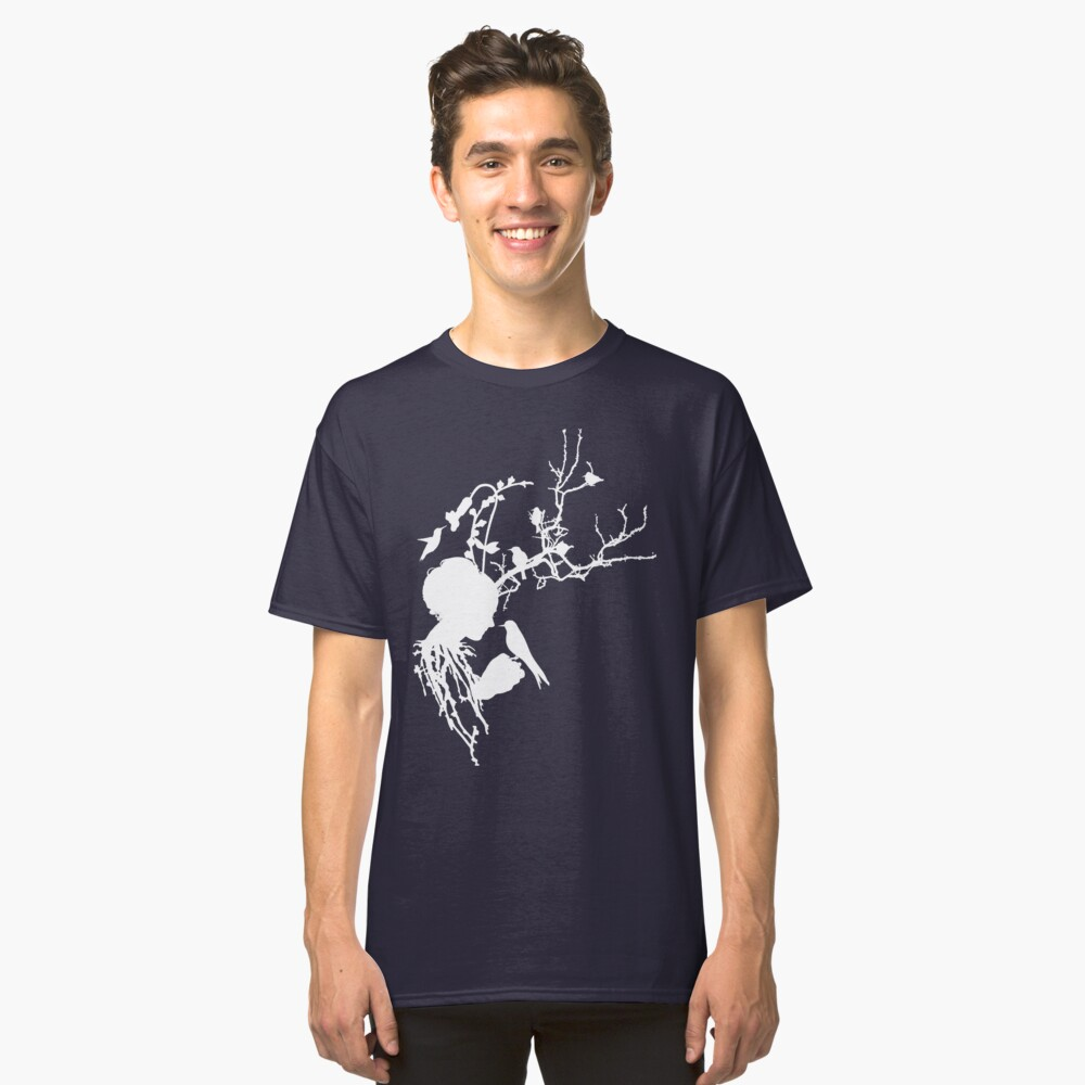 And then I was one with nature...white ink Classic T-Shirt Front