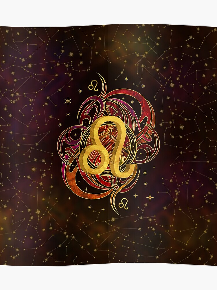 Leo Zodiac Fire element | Poster